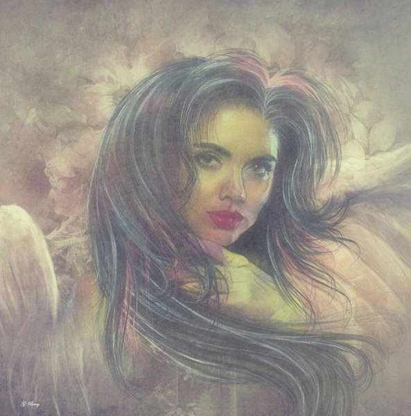 Admiration Mixed Media - Glorious Angel 02 by G Berry