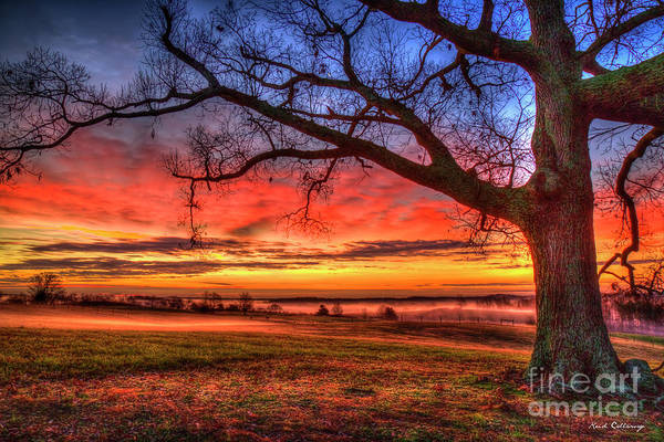 Photograph - Glorious Sunrise Landscape Hay Farming Art by Reid Callaway