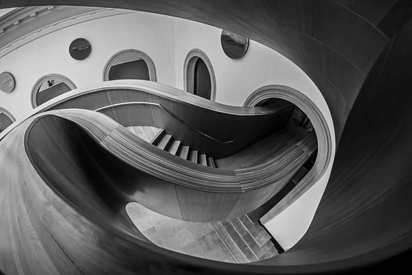 Photograph - Glorious Wooden Winding Stairs  by Sven Brogren