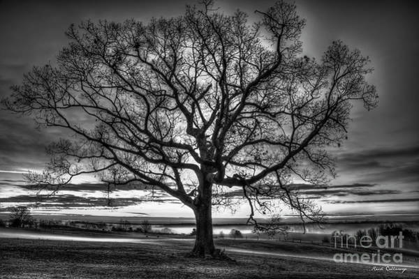 Photograph - Glory To God Sunrise Oak Madison County Georgia Landscape Art by Reid Callaway