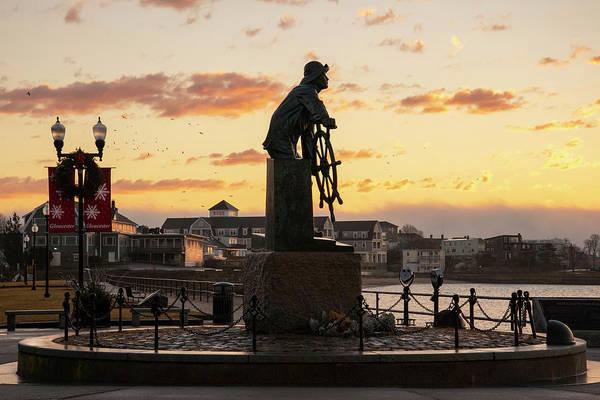 Wall Art - Photograph - Gloucester Fisherman Memorial Sunrise by Joann Vitali