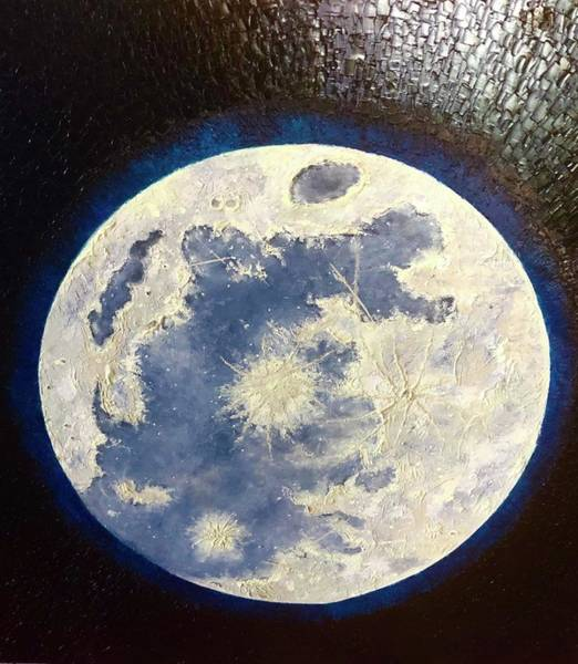 Wall Art - Painting - Glow Moon by Andrew Hollimon