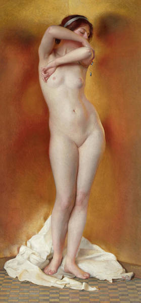 Wall Art - Painting - Glow Of Gold, Gleam Of Pearl, 1906 by William McGregor Paxton