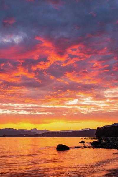 Digital Art - Glowing Sky In English Bay by Michael Lee