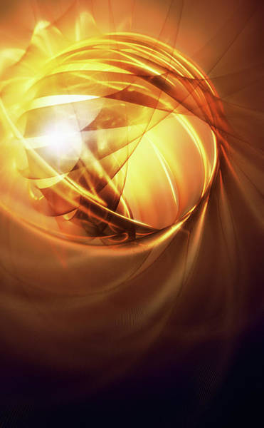 Wall Art - Photograph - Glowing Gold Abstract Pattern by Ikon Images