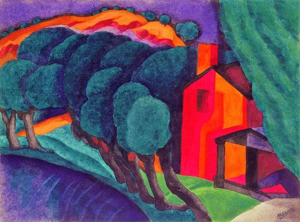 Wall Art - Painting - Glowing Night - Digital Remastered Edition by Oscar Bluemner