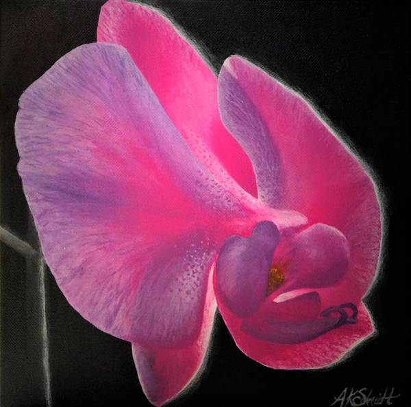Painting - Glowing Orchid - Painting by Ashley Koebrick Schmidt