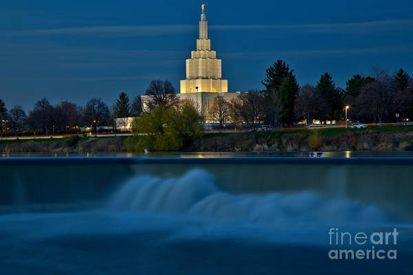 Photograph - Glowing Over Idaho Falls by Adam Jewell