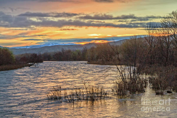 Wall Art - Photograph - Glowing Sunrise  Over The Payette River by Robert Bales