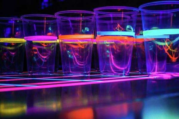 Blacklight Photograph - Glowrings by Brandon Scene