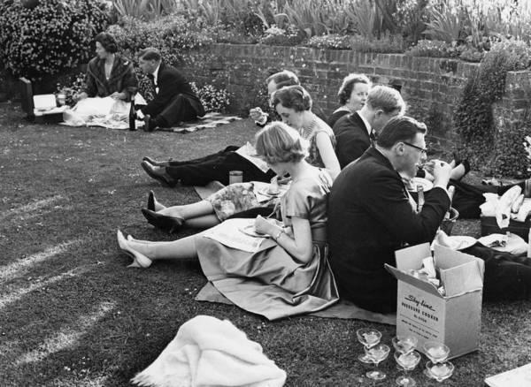 Photograph - Glyndebourne Picnic by Erich Auerbach