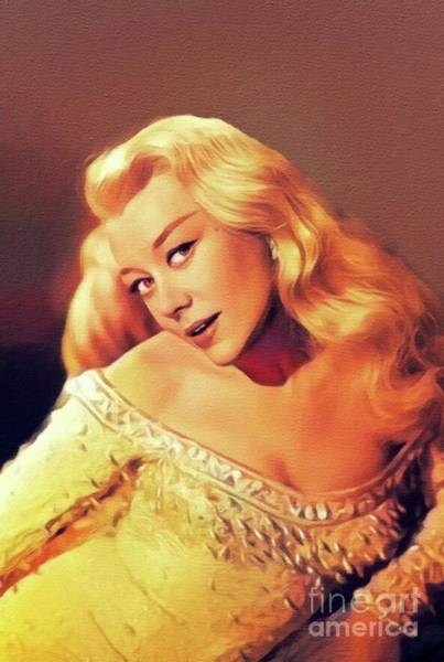 Wall Art - Painting - Glynis Johns, Vintage Actress by John Springfield
