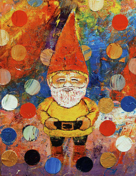 Wall Art - Painting - Gnome by Michael Creese