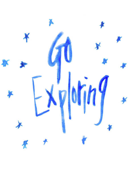 Exploring Mixed Media - Go Exploring by Sd Graphics Studio
