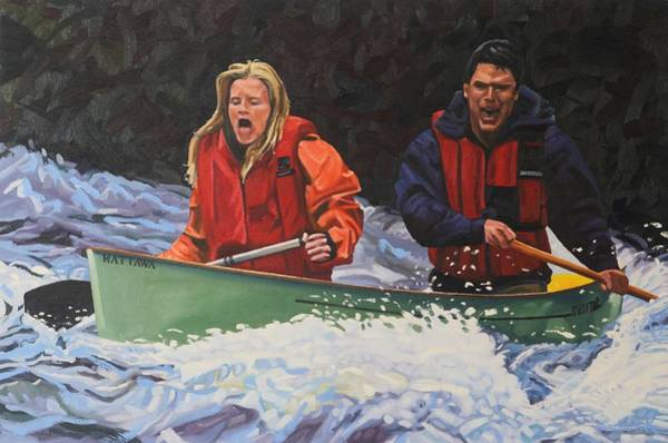 Painting - Go For It Swiftly by Phil Chadwick