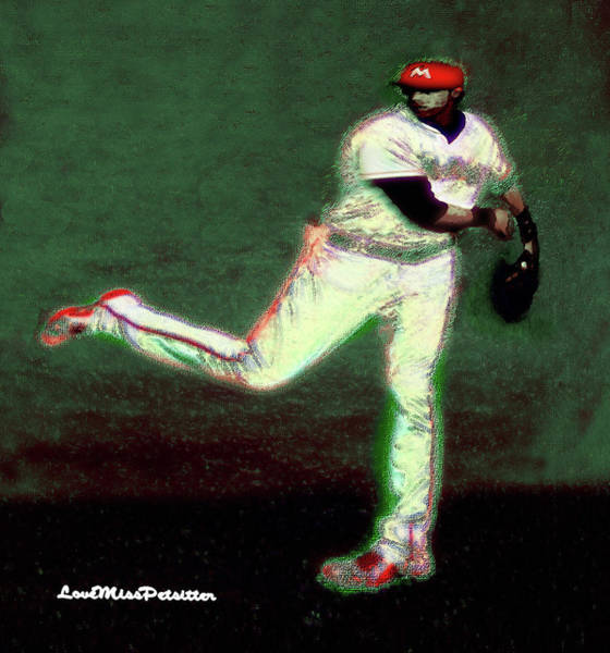 Go Yelich Baseball Art 1 Art Print