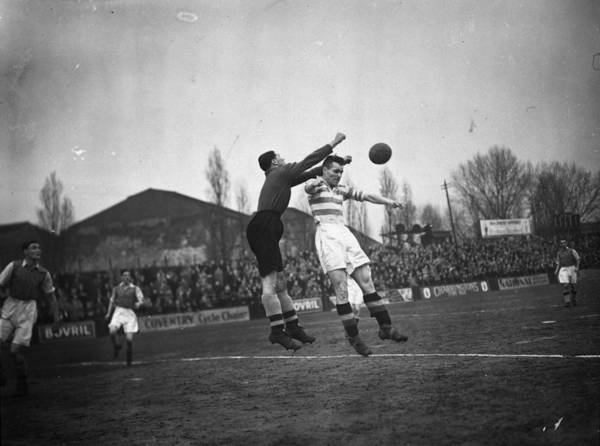 Ball Photograph - Goalkeepers Punch by H F Davis