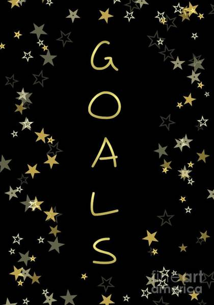 Digital Art - Goals by Rachel Hannah