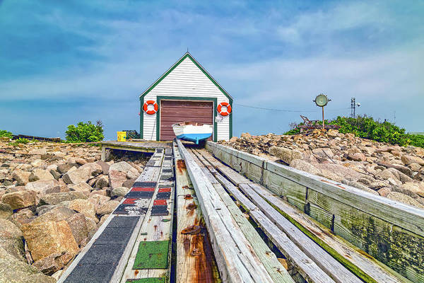 Rock Island Line Photograph - Goat Island Boat House by Betsy Knapp