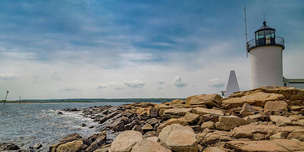 Bell Rock Photograph - Goat Island Lighthouse Breath Of Fresh Air by Betsy Knapp