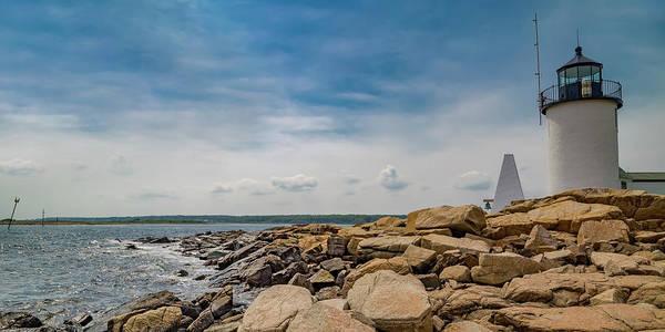Rock Island Line Photograph - Goat Island Lighthouse Breath Of Fresh Air by Betsy Knapp