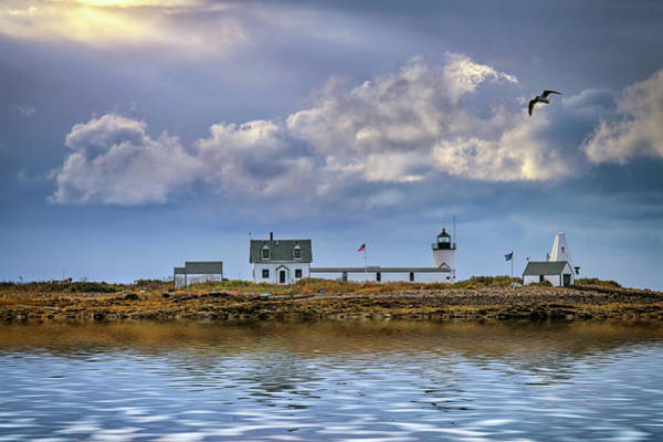 Photograph - Goat Island Lighthouse by Rick Berk