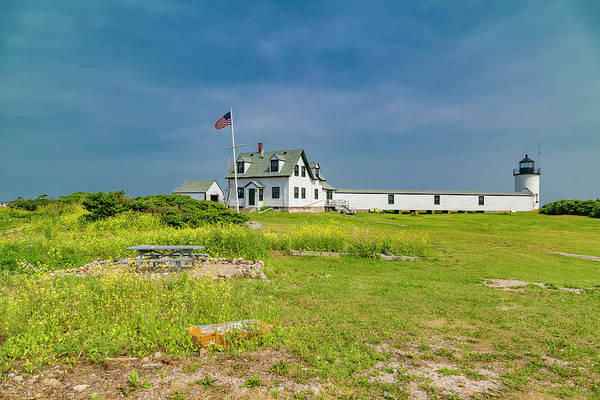 Wall Art - Photograph - Goat Island Lighthouse Vibrant Day Landscape  by Betsy Knapp