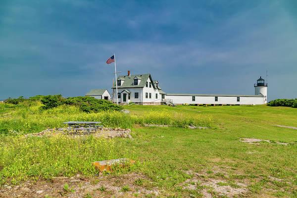 Bell Rock Photograph - Goat Island Lighthouse Vibrant Day Landscape  by Betsy Knapp