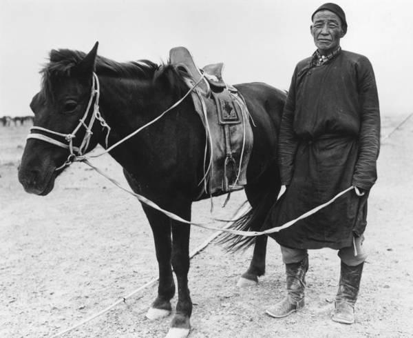 Reportage Photograph - Gobi Herdsman by Richard Harrington