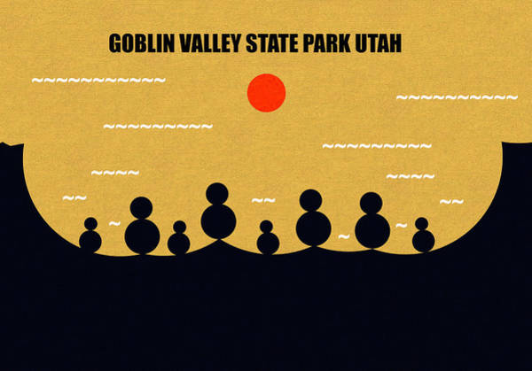 Wall Art - Digital Art - Goblin Valley Sate Park Utah by David Lee Thompson