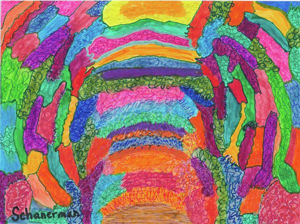 Drawing - God Is Color - The Original by Susan Schanerman