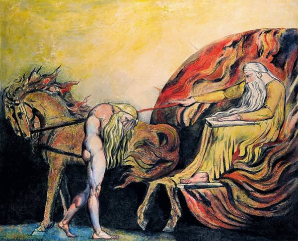 Wall Art - Painting - God Judging Adam - Digital Remastered Edition by William Blake
