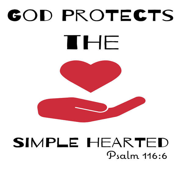 Digital Art - God Protects The Simple Hearted by Joe Lach