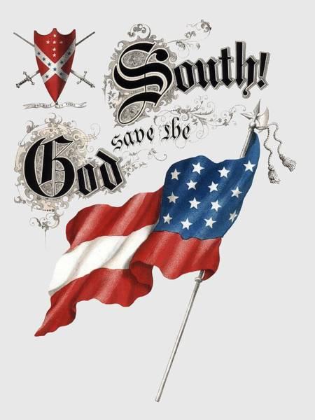 Wall Art - Photograph - God Save The South 1863 - Civil War - T-shirt by Daniel Hagerman