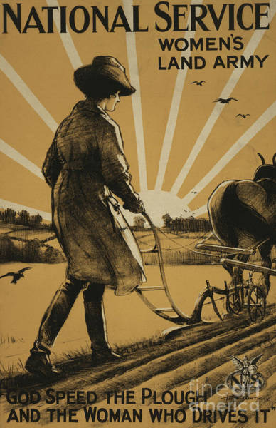 Plow Painting - God Speed The Plough And The Woman Who Drives It by Henry George Gawthorn