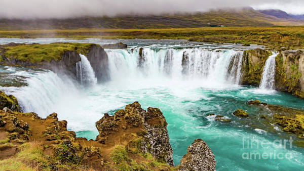 Photograph - Godafoss Waterfall, Iceland by Lyl Dil Creations