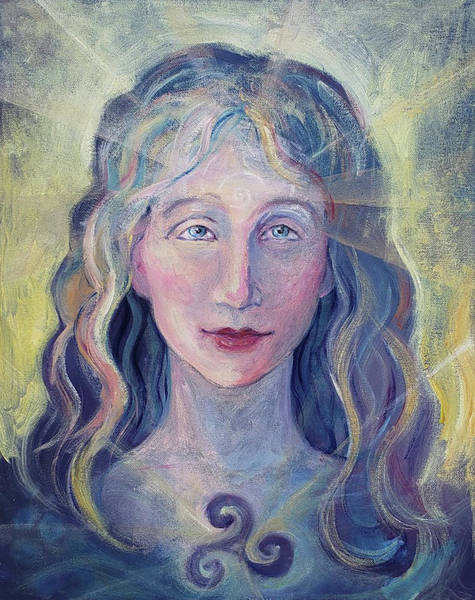Painting - Goddess Brigid by Christie Martin