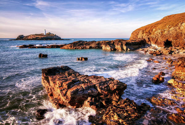 St Ives Photograph - Godrevy Lighthouse by Joe Daniel Price