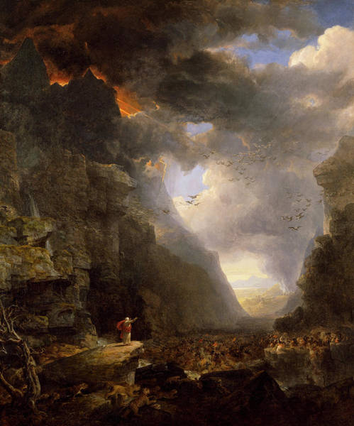 Wall Art - Painting - God's Judgment Upon Gog by Asher Brown Durand