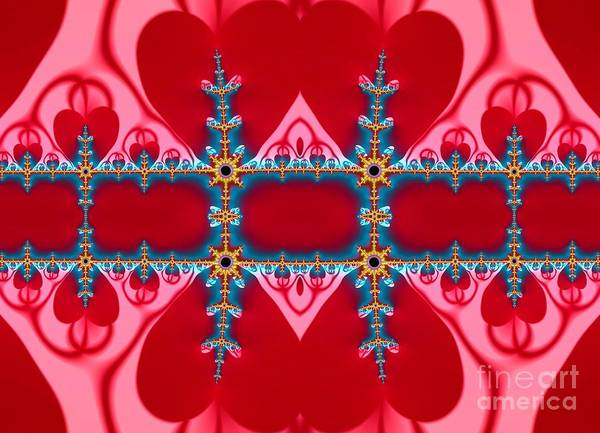 Digital Art - Gods Love And Mercy Is Infinite Fractal Abstract Hearts by Rose Santuci-Sofranko