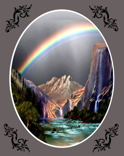 Wall Art - Painting - Gods Promise - Qval by Ron Chambers