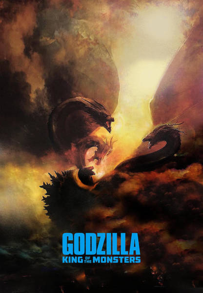 Godzilla Digital Art - Godzilla II by Geek N Rock