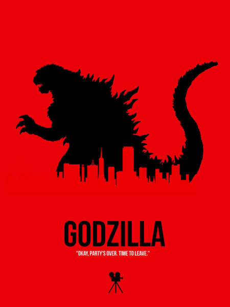 Wall Art - Digital Art - Godzilla by Naxart Studio
