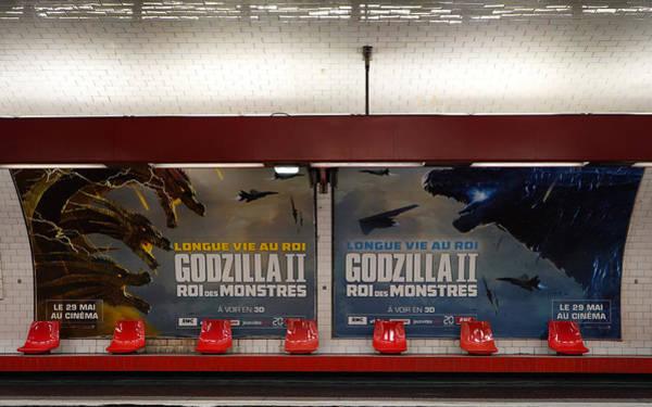 Photograph - Godzilla Paris Metro 2 by Andrew Fare