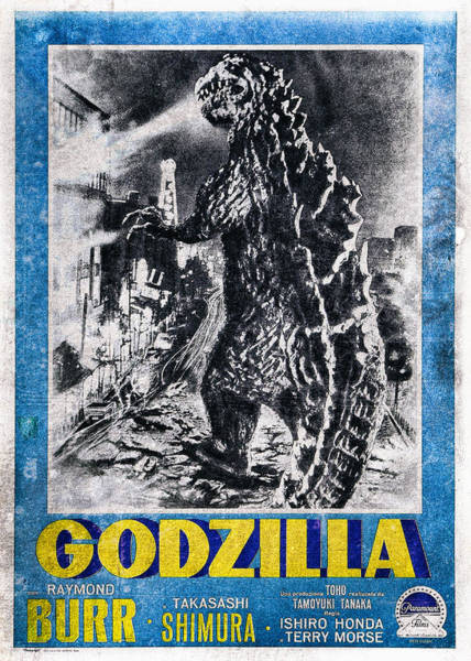 Godzilla Digital Art - Godzilla Vintage Movie Poster 1956 by Benjamin Dupont