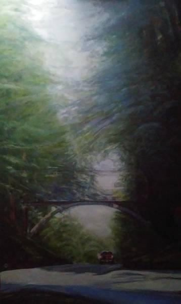Going East Under The Forest Park Pedestrian Bridge Art Print