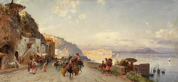 Wall Art - Painting - Going To Market, Naples by Hermann David Salomon Corrodi