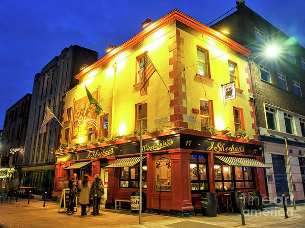 Wall Art - Photograph - Going To Sheehan's At Night In Dublin by John Rizzuto