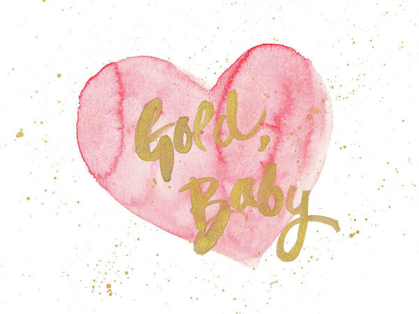 Heart Gold Painting - Gold Baby by Susan Bryant