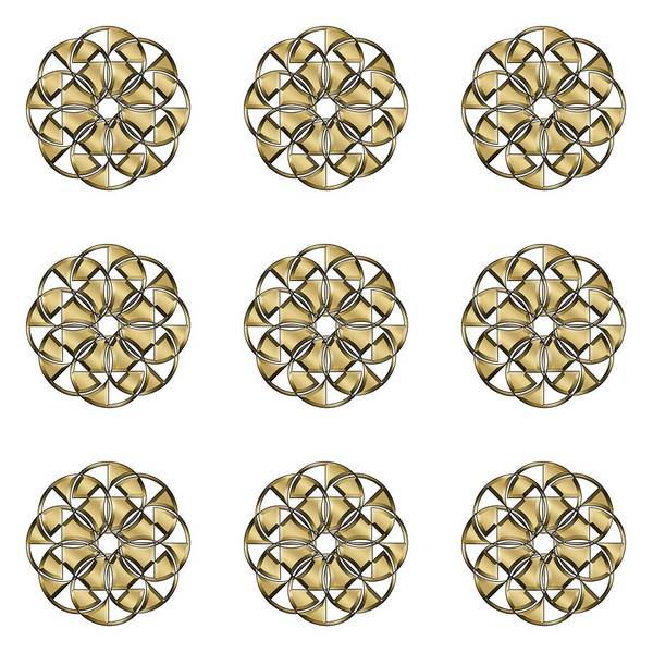 Digital Art - Gold Circles 1 by Chuck Staley